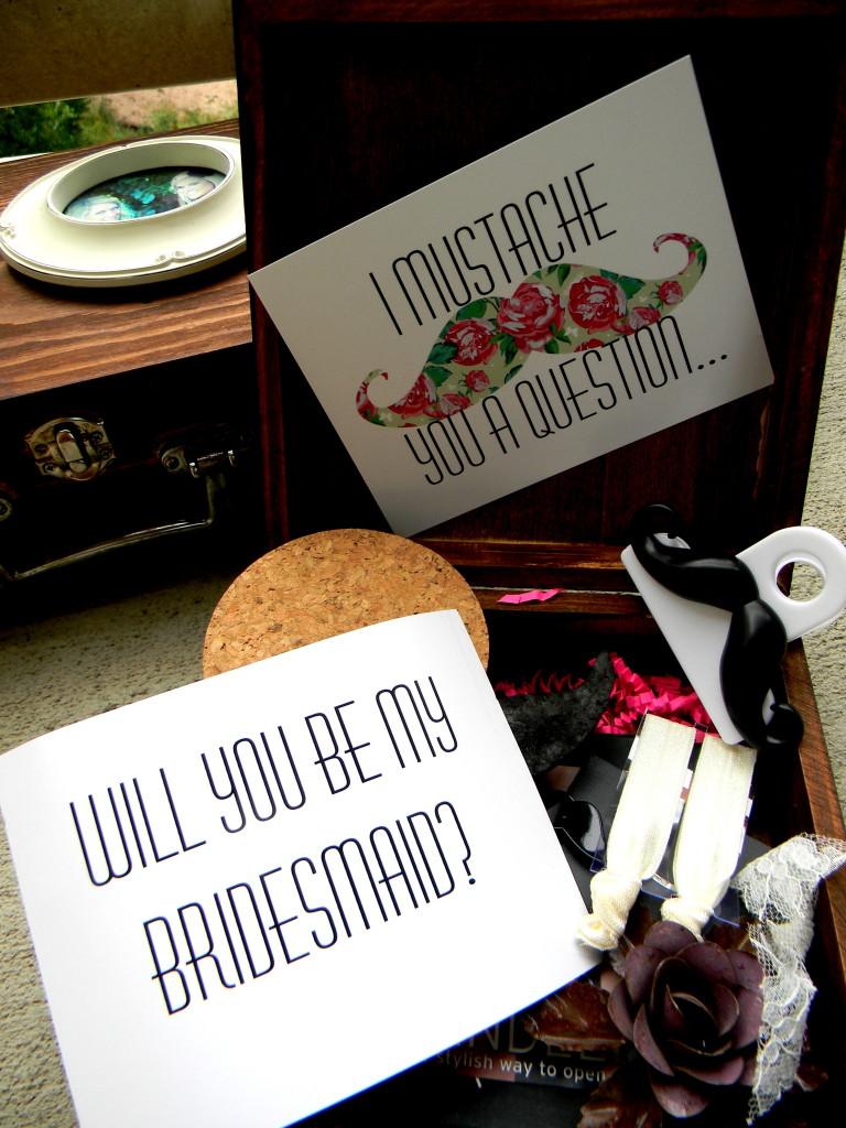 DIY Bridal Box- Mustache Style by Hi Lovely