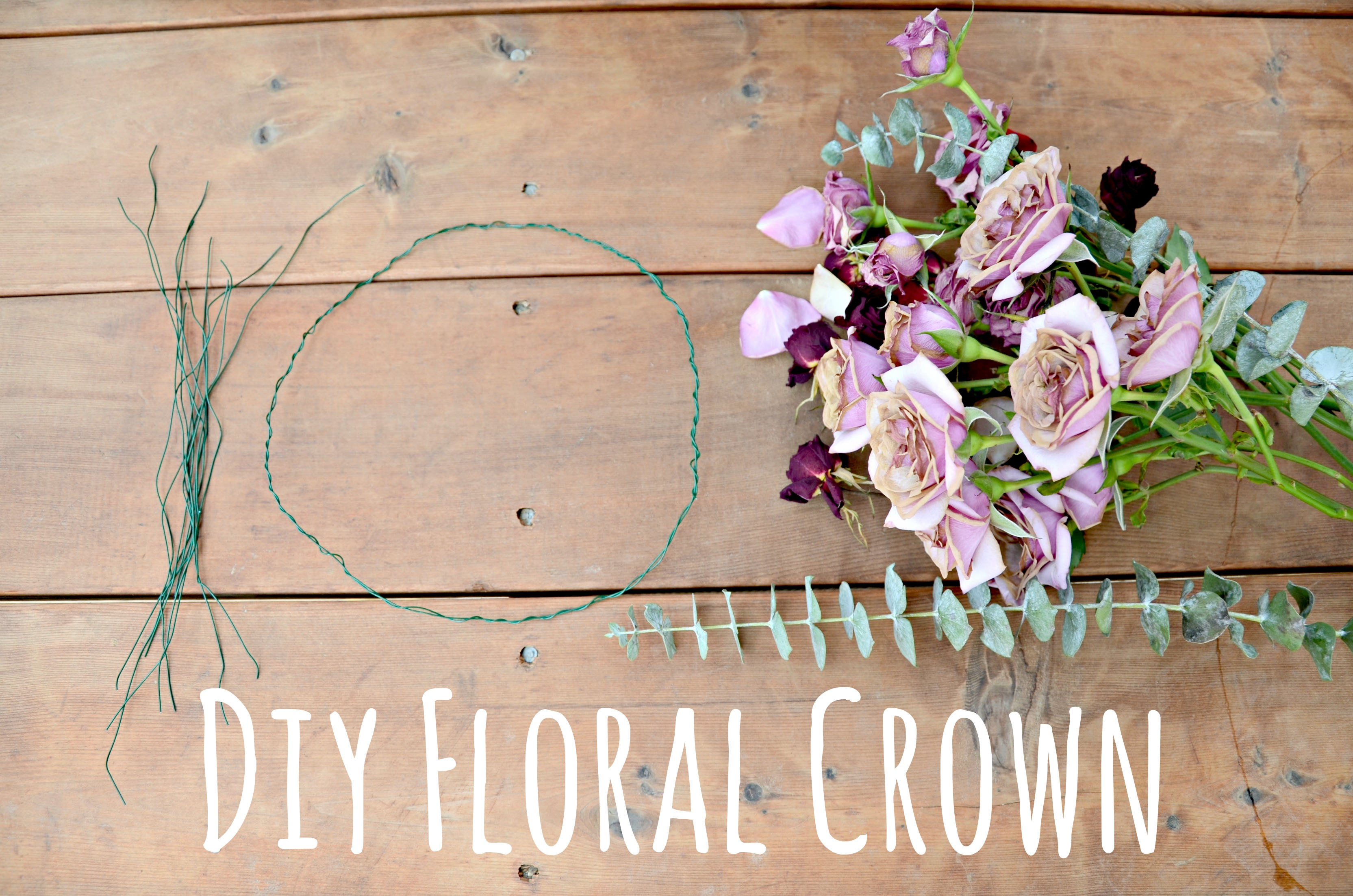Diy floral crown hi lovely diy floral crown flower headpiece for coachella and festivals by hi lovely izmirmasajfo