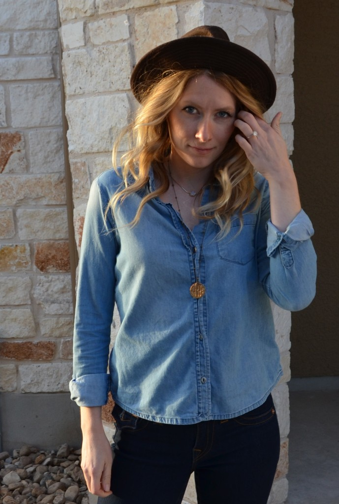 Chambray on Denim - Hi Lovely style