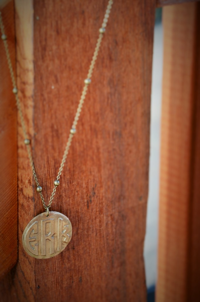 Bourbon & Boots Monogram Necklace - Hi Lovely!