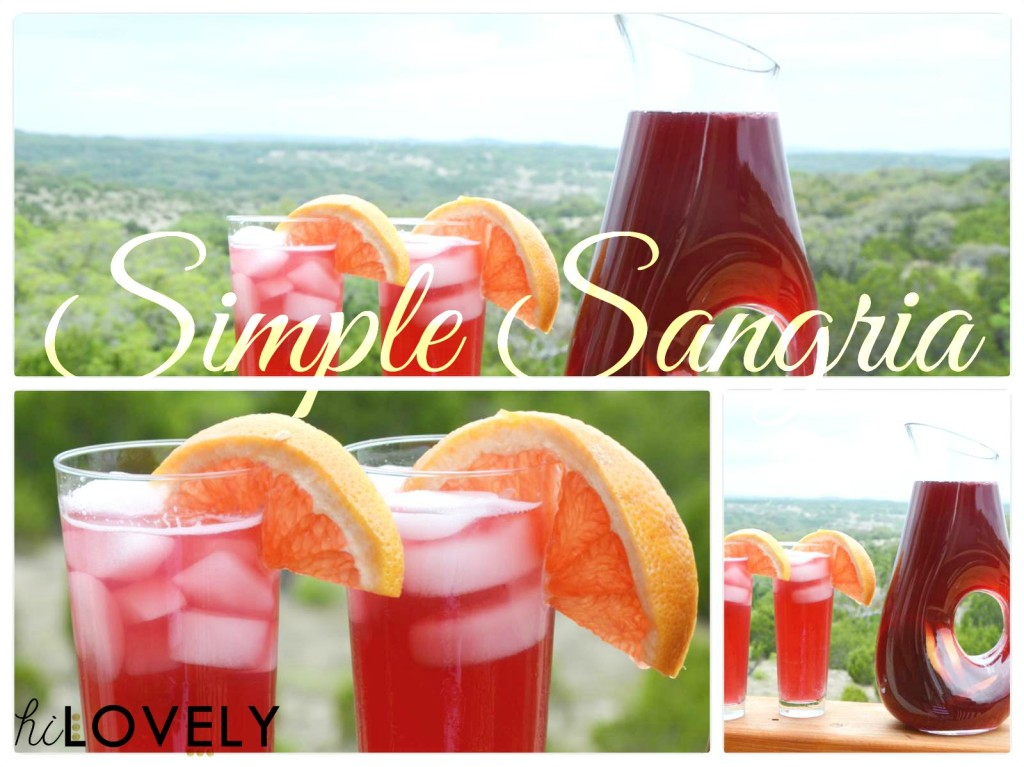 Hi Lovely's Simple Sangria Recipe