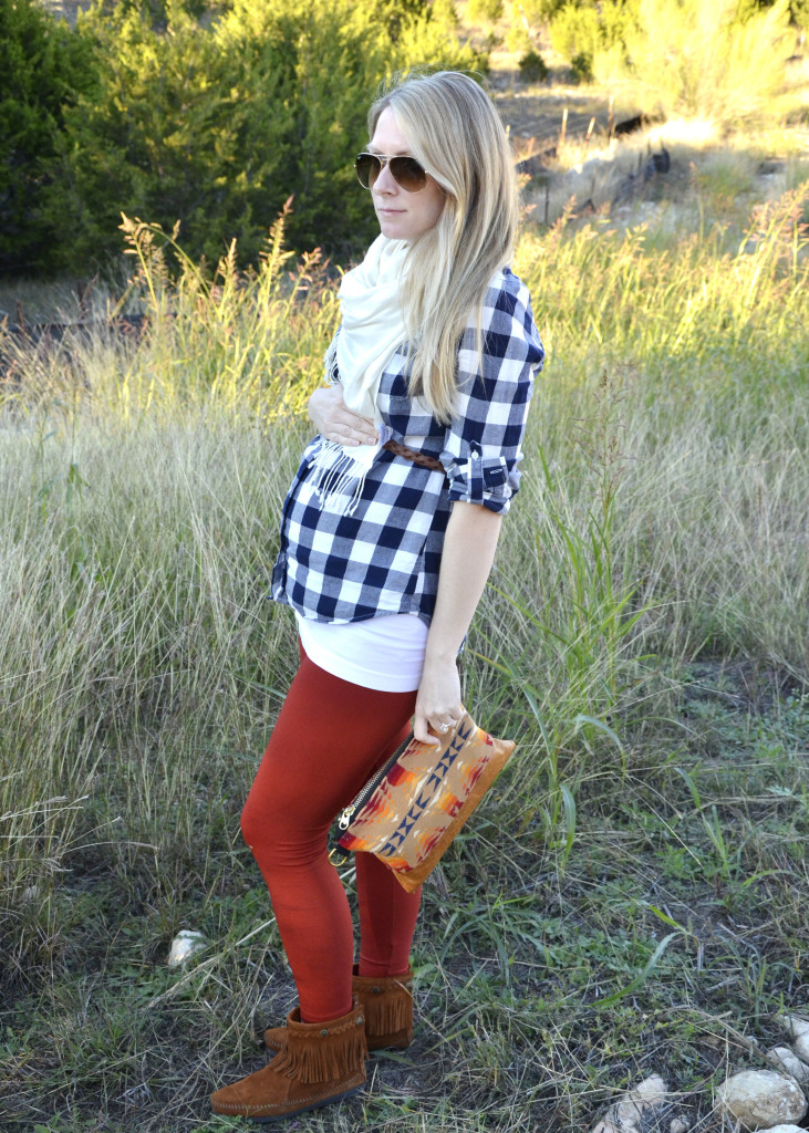 Fall pregnancy style on Hi Lovely! | 24 weeks