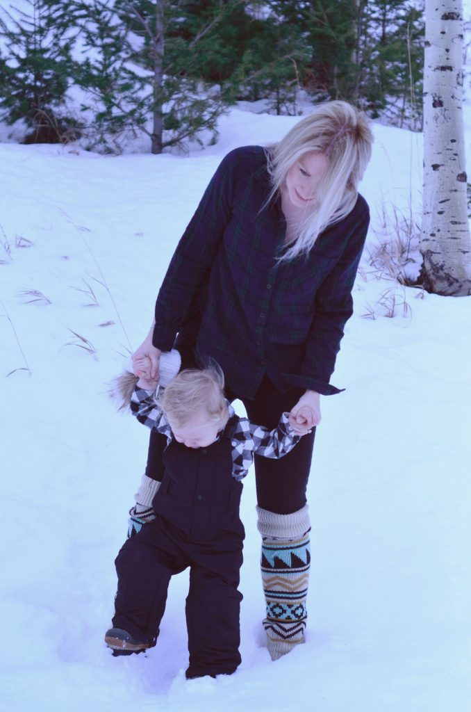 Toddler and Mama Ski Style | Hi Lovely
