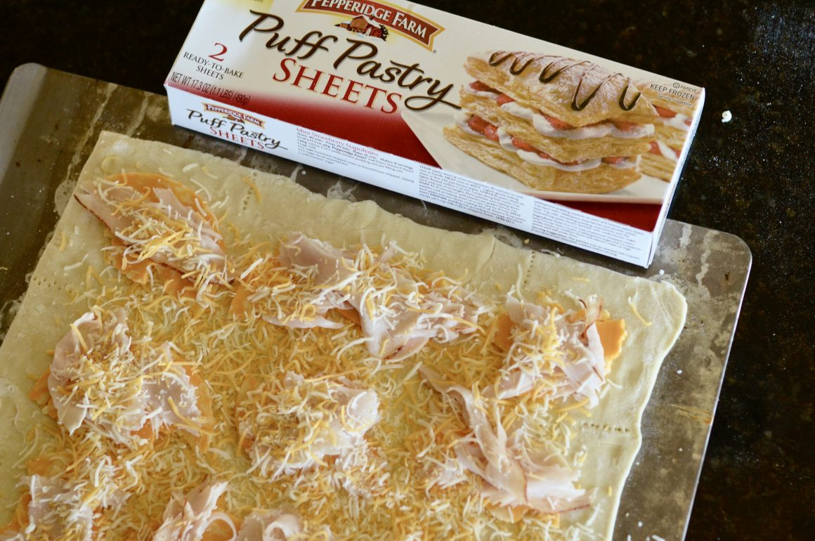 Turkey and Cheese Pepperidge Farm® Puff Pastry Sandwich | Hi Lovely