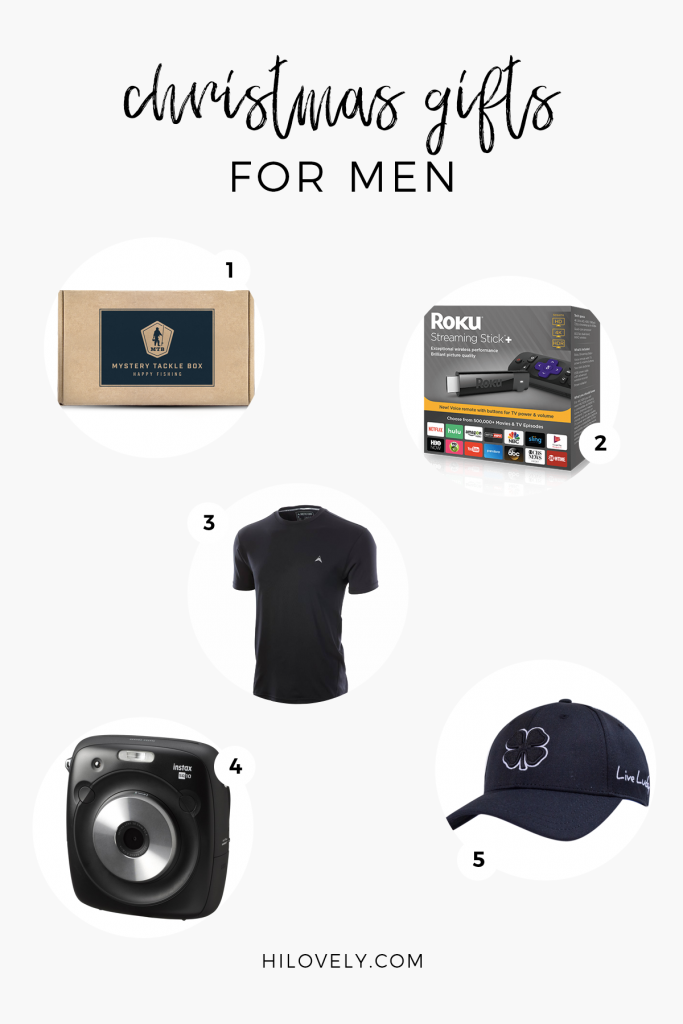 Hi Lovely Gift Guide for Men | Babbleboxx | Black Clover, Mystery Tackle Box, Arctic Cool, Roku, FUJIFILM Instax