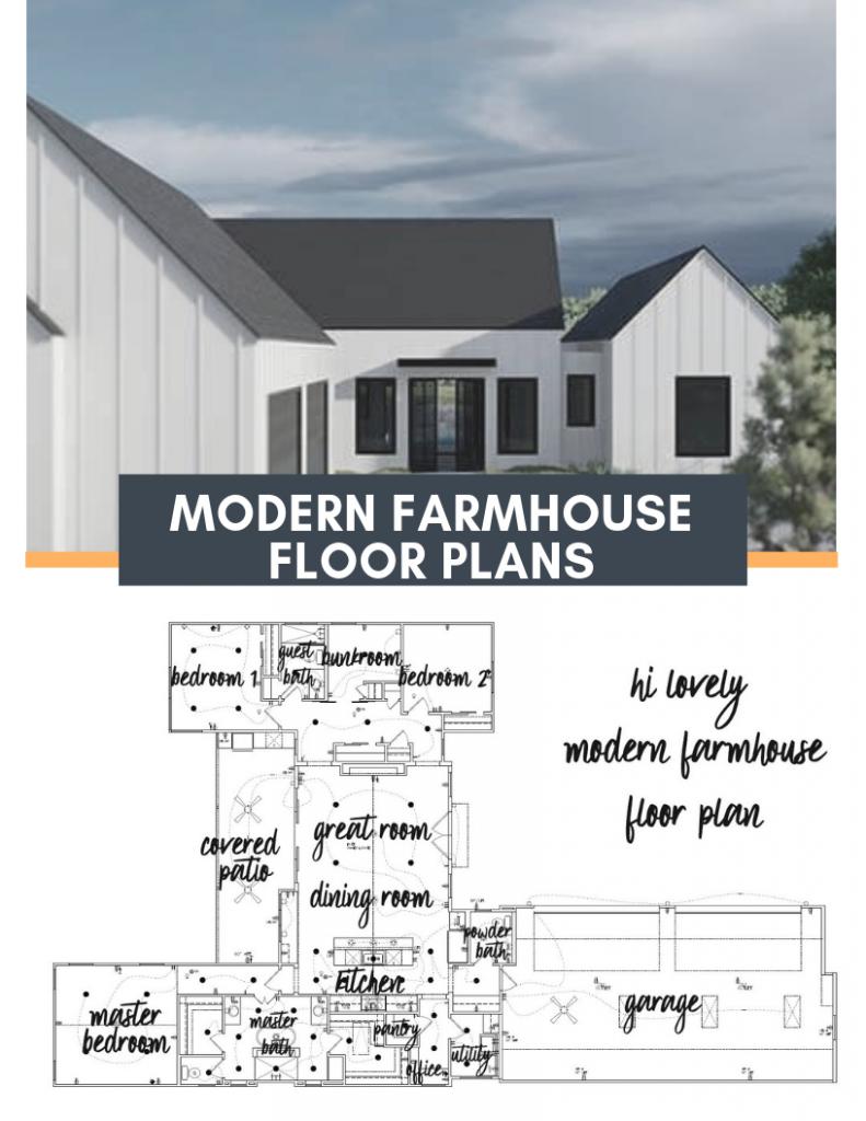 Modern Farmhouse Floor Plan Hi Lovely